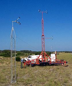 10 meter meteorological tower